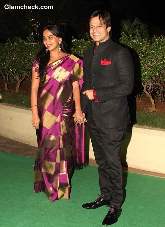 Vivek Oberoi with his wife Priyanka Alva