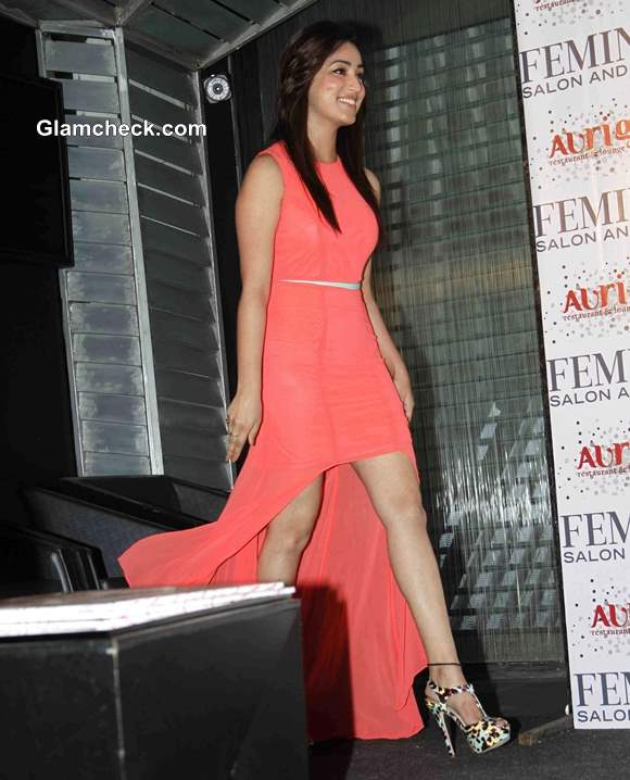 Yami Gautam in ASOS Asymetrical Dress at Femina Magazine Launch
