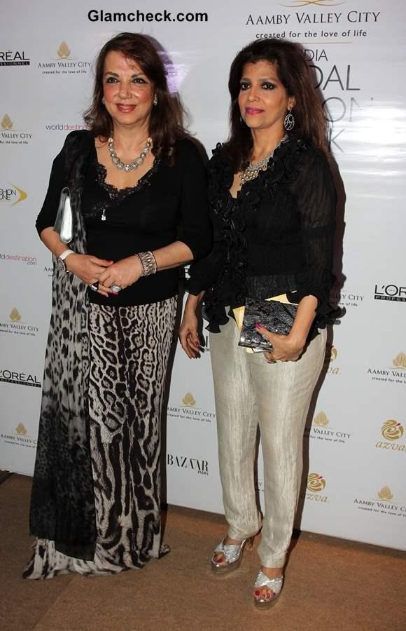 Zarine Khan with Bina Aziz at India Bridal Fashion Week 2013 Mumbai