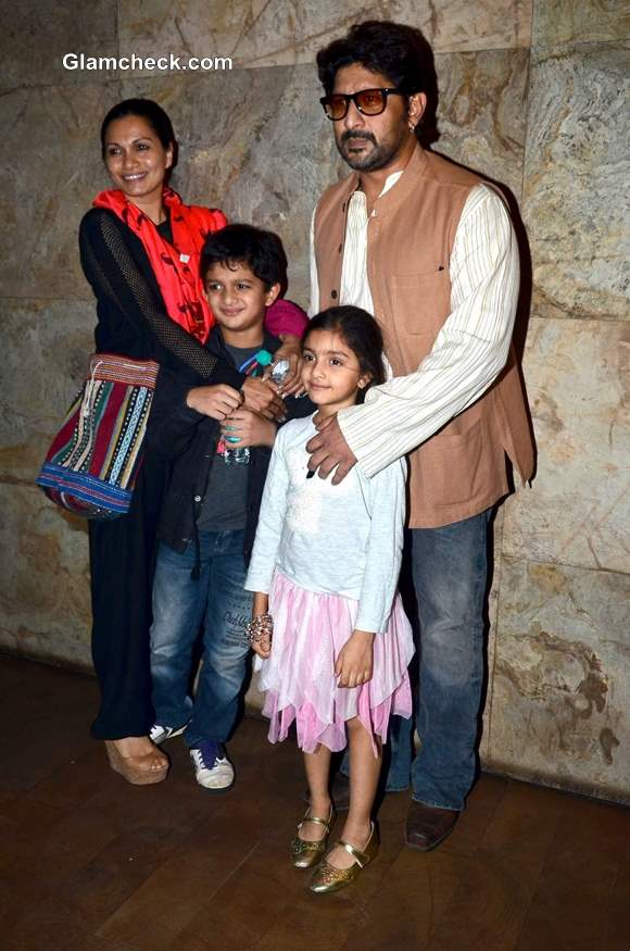 Actors Arshad along with wife Maria Goretti and kids