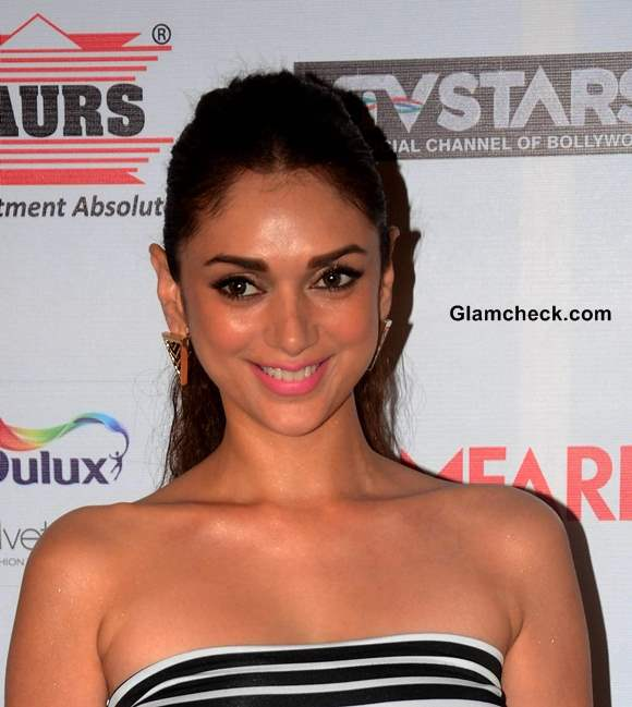 Aditi Rao Hydari Hair and Makeup at the 59th Idea Filmfare Pre-awards Party