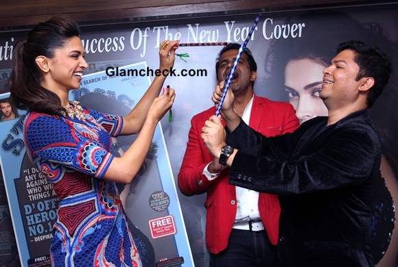 Deepika Padukone at Stardust cover January 2014 issue Launch