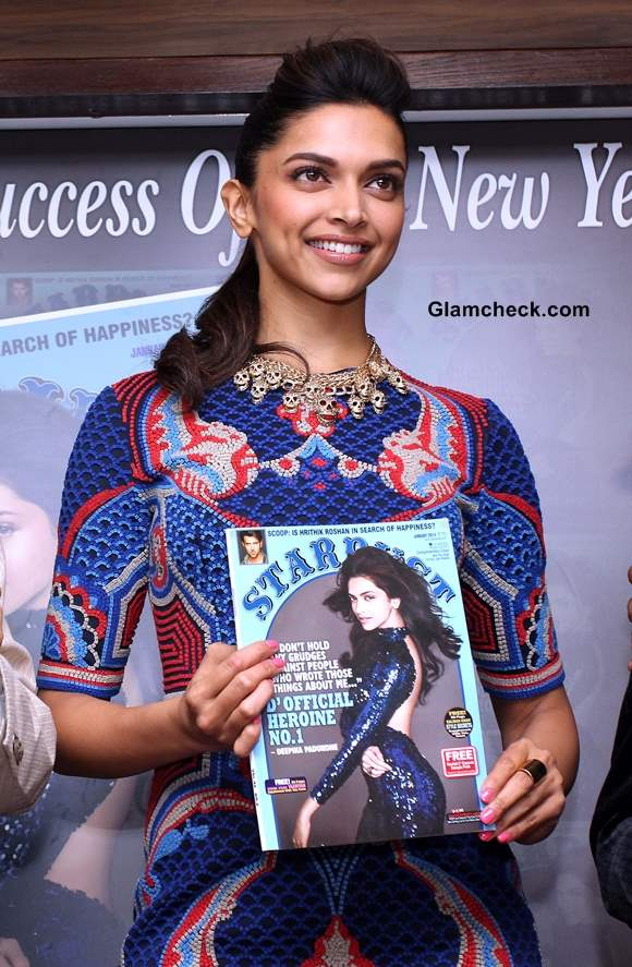 Deepika Padukone at the launch of Stardust cover January 2014 issue