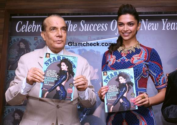 Deepika Padukone at the launch of Stardust cover January 2014