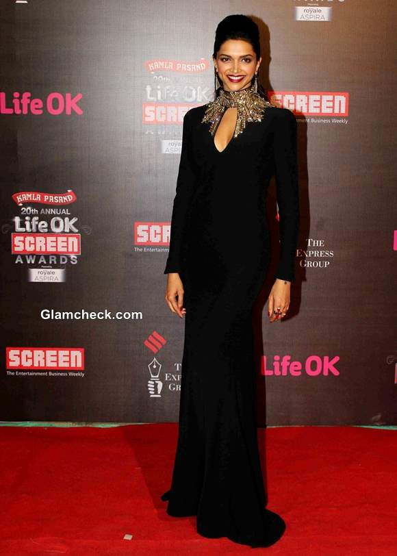Deepika Padukone in Alexander McQueen gown at Life OK Awards 2014