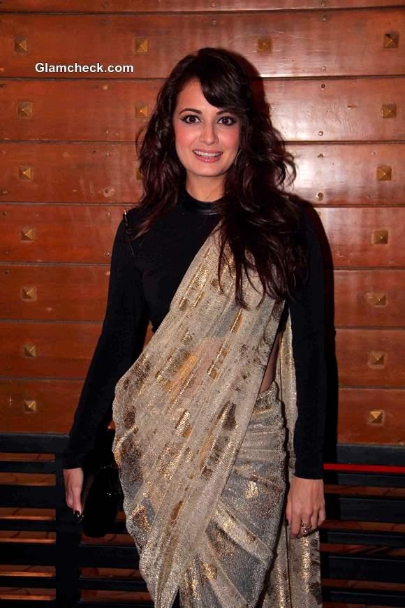 Dia Mirza 2014 at the Idea Filmfare Awards