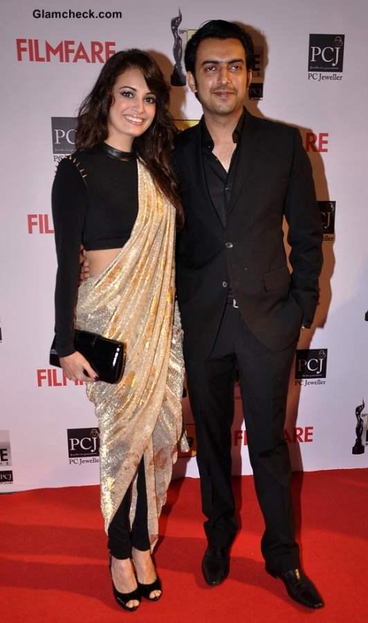 Dia Mirza at the Idea Filmfare Awards 2014