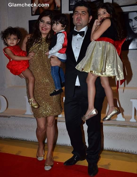 Fashion photographer Dabboo Ratnani along his wife Manisha Ratnani and Kids
