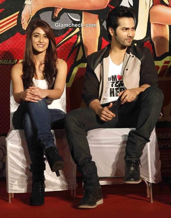 Ileana DCruz and Varun Dhawan at Main Tera Hero Trailer Launch