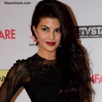 Jacqueline Fernandez Hair and Makeup at the 59th Idea Filmfare Pre-awards Party