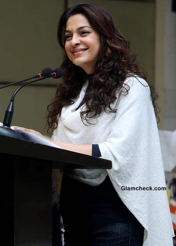 Juhi Chawla 2014 at Delhi to Support Exchange for Change Programe