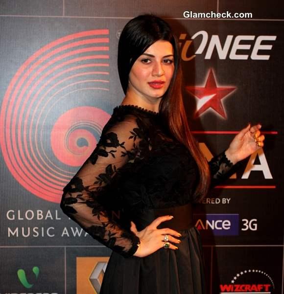 Kainaat Arora 2014 at the Global Indian Music Academy Awards