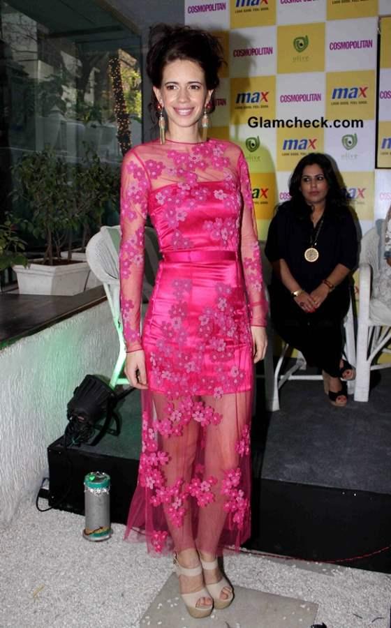 Kalki Koechlin in pink dress at Max Fashion icon 2014 announcement