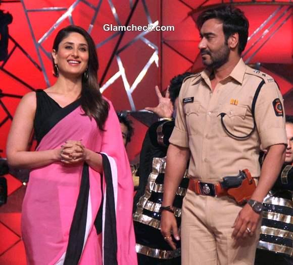 Kareena Kapoor and Ajay Devgan at Umang 2014