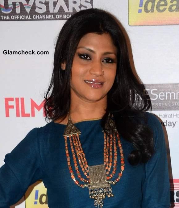 Konkana Sen Hair and Makeup at the 59th Idea Filmfare Pre-awards Party