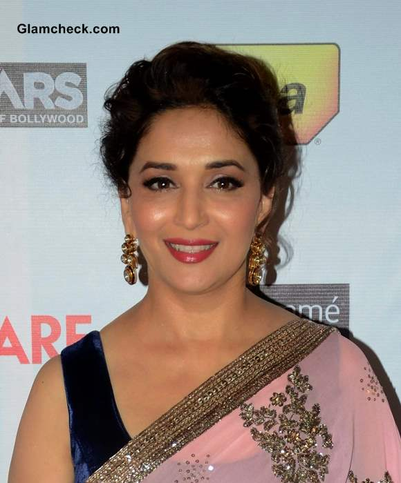 Madhuri Dixit Hair and Makeup at the 59th Idea Filmfare Pre-awards Party