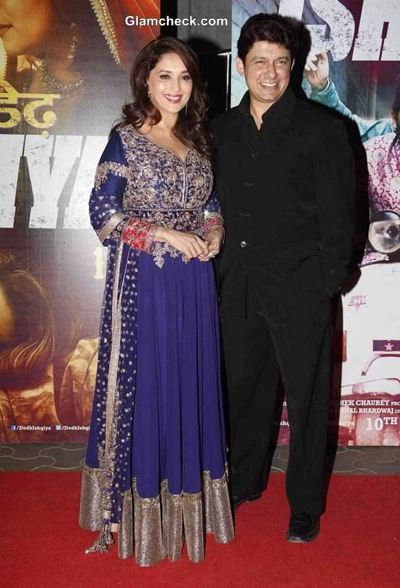Madhuri Dixit with Husband Sriram Nene at Dedh Ishqiya  Premiere