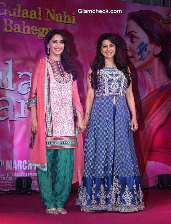 Madhuri and Juhi Launch Gulaab Gang Trailer in Mumbai