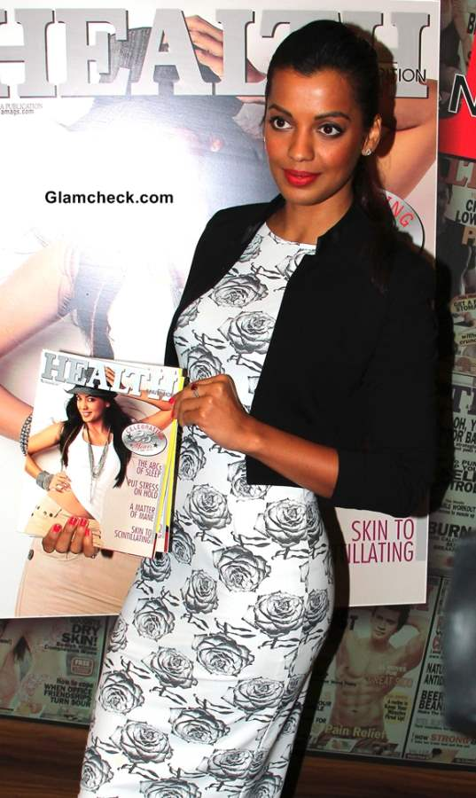 Mugdha Godse in Masaba Dress for Health and Nutrition Cover Launch