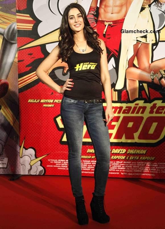 Nargis Fakhri at Main Tera Hero Trailer Launch