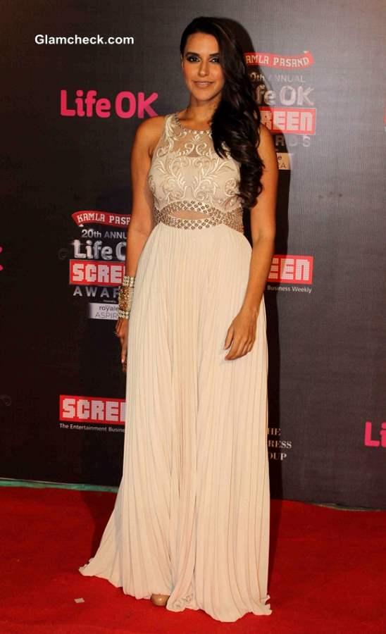 Neha Dhupia 2014 Annual Life OK Screen Awards