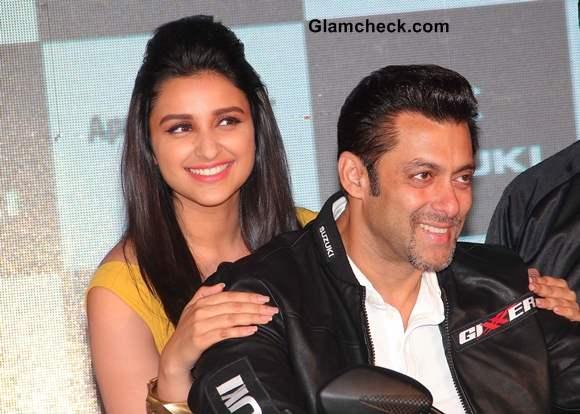 Parineeti Chopra and Salman khan at Suzuki Lets and Gixxer Launch