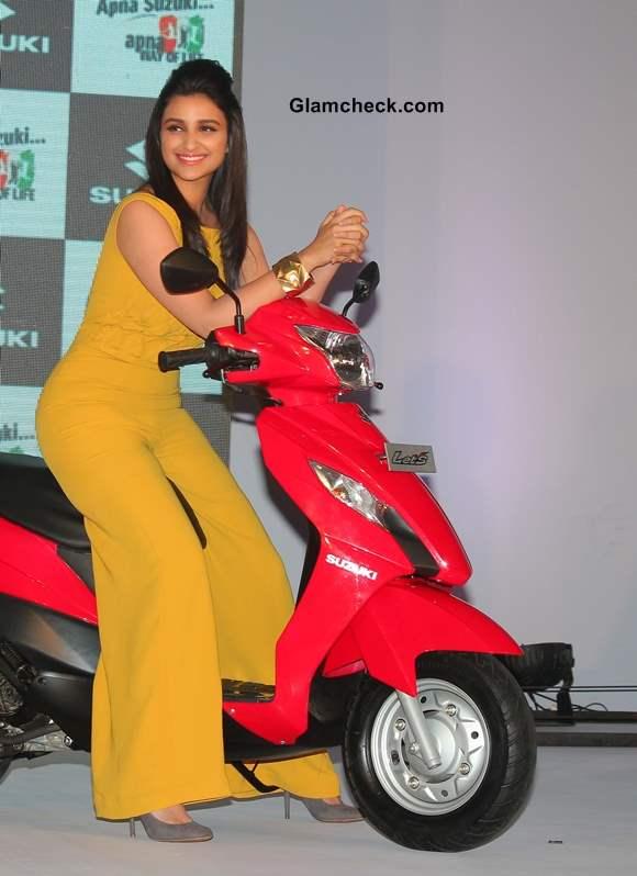 Parineeti Chopra at Suzuki Lets and Gixxer Launch