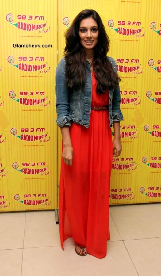 1bd9307b509 Preeti Desai Shows How to Wear Denim Jacket with a Maxi Dress