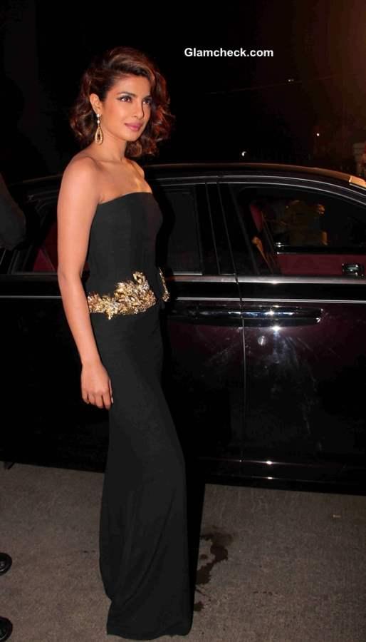 Priyanka Chopra in Alexander McQueen Gown At Filmfare Awards 2014