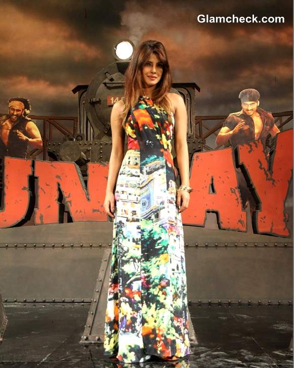 Priyanka Chopra in Gauri and Nainika Jumpsuit At Gunday Music Launch