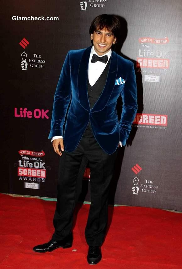 Ranveer Singh at Life OK Awards 2014