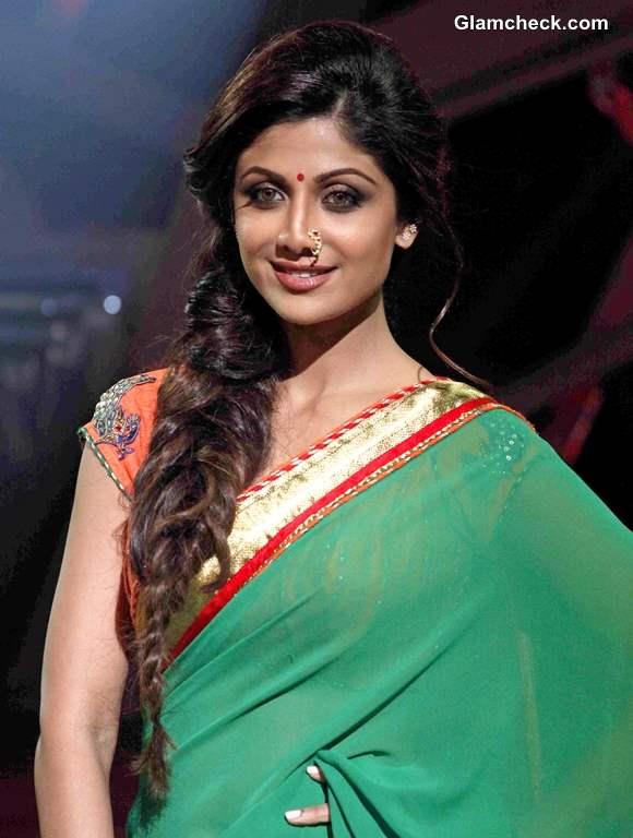 Republic Day Makeup hairstyle Get Shilpa Shetty Marathi Mulgi Look
