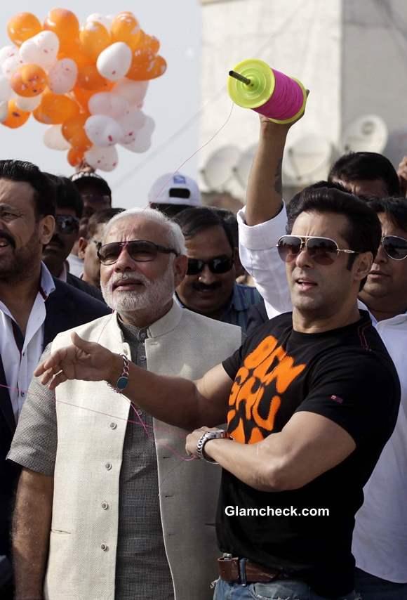 Salman Khan Flies Kites with Narendra Modi on Makar Sankrant
