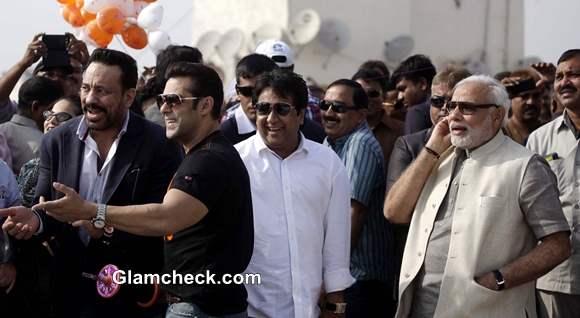 Salman Khan Flies Kites with Narendra Modi