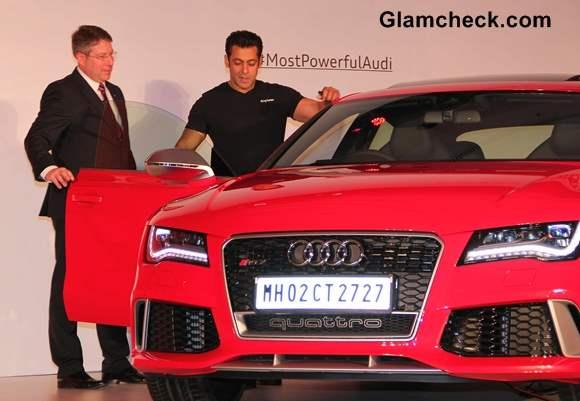 Salman Khan Launches Audi RS 7 Sportback in Mumbai