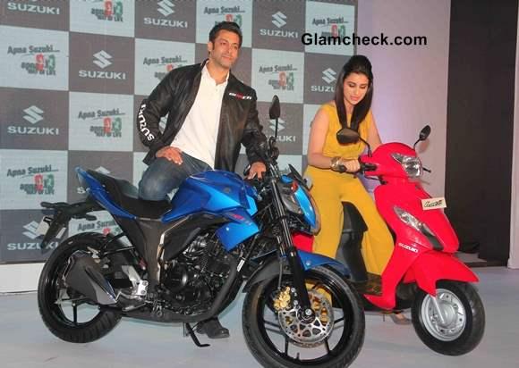 Salman Khan and Parineeti Chopra Launch Suzuki Lets' and Gixxer