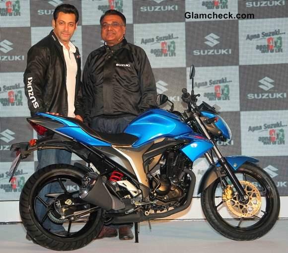 Salman khan at Suzuki Lets and Gixxer Launch