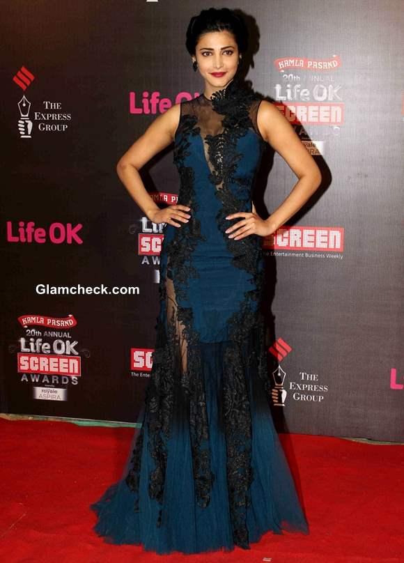 Shruti Haasan 2014 Annual Life OK Screen Awards