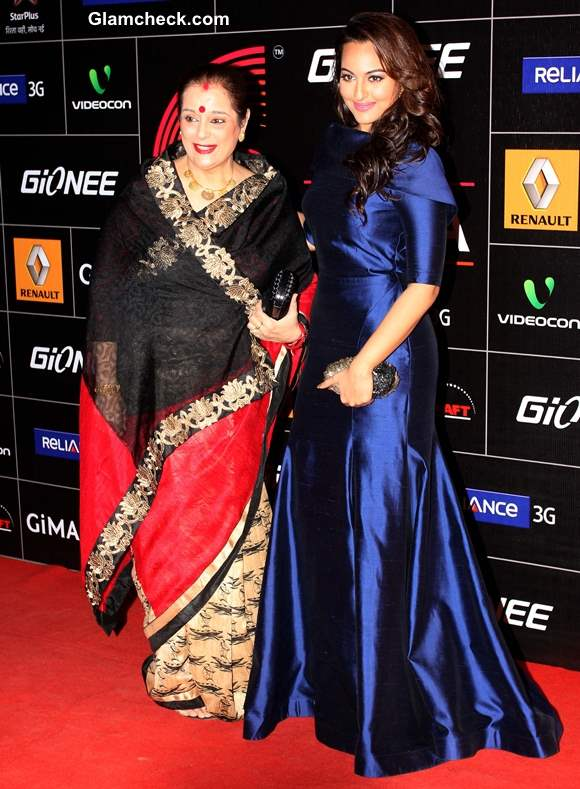Sonakshi Sinha With her Mother at GIMA 2014