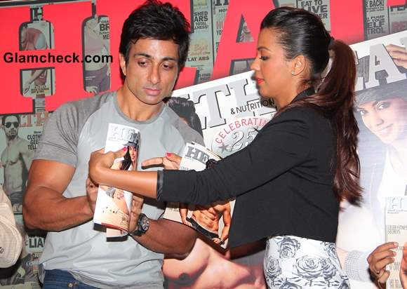 Sonu Sood and Mugdha Godse a Health and Nutrition Cover Launch