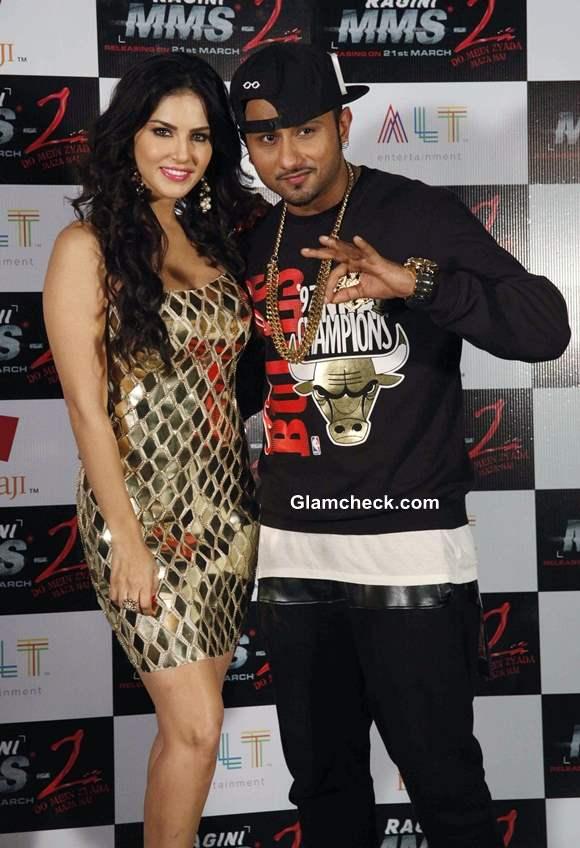 Sunny Leone and Honey Singh Shoot Chaar Bottle Vodka for Ragini MMS 2