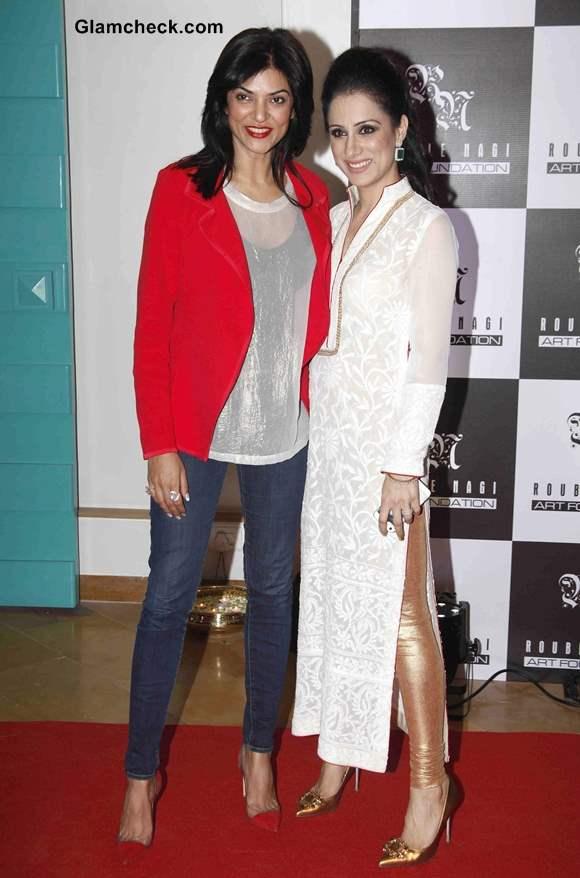 Sushmita Sen with Rouble Nagi