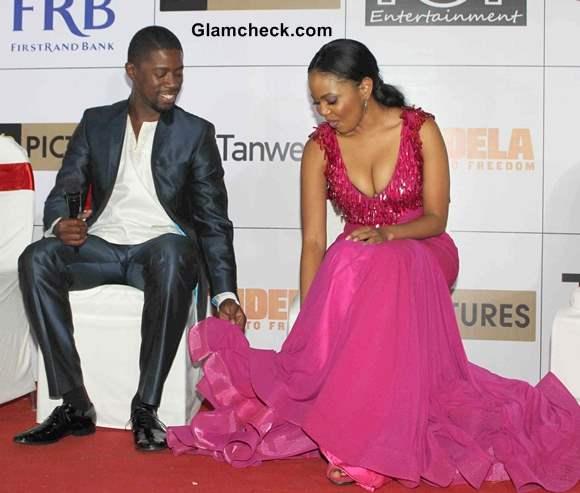 Terry Pheto and Atandwa Kani
