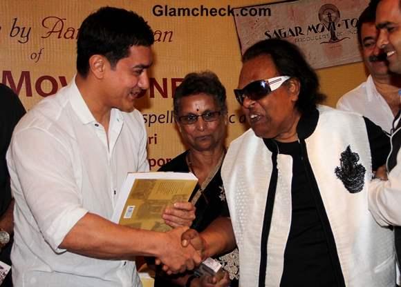 Aamir Khan with Bollywood music composer Ravindra Jain