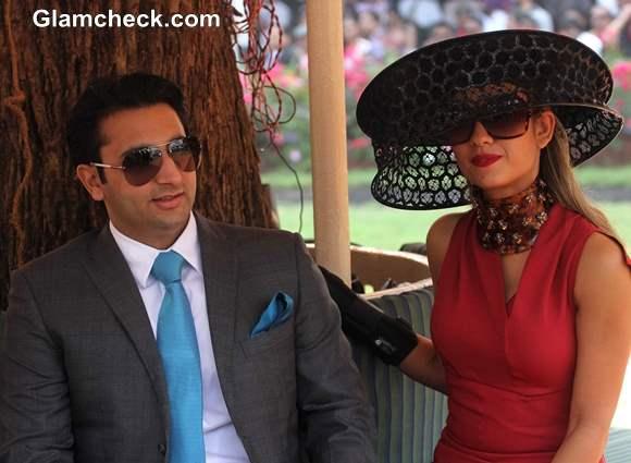 Adar Poonawalla with his wife Natasha Poonawala