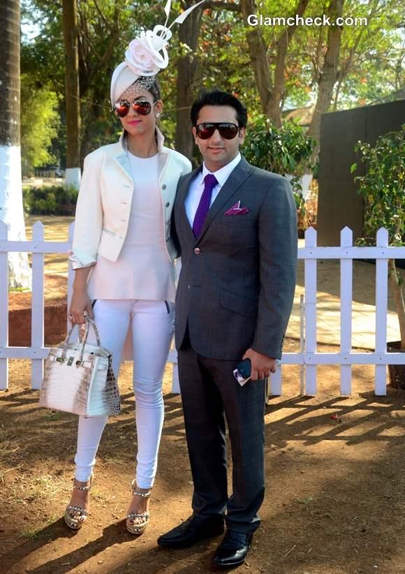 Adar Poonawalla with wife Natasha at Hello Class Race 2014