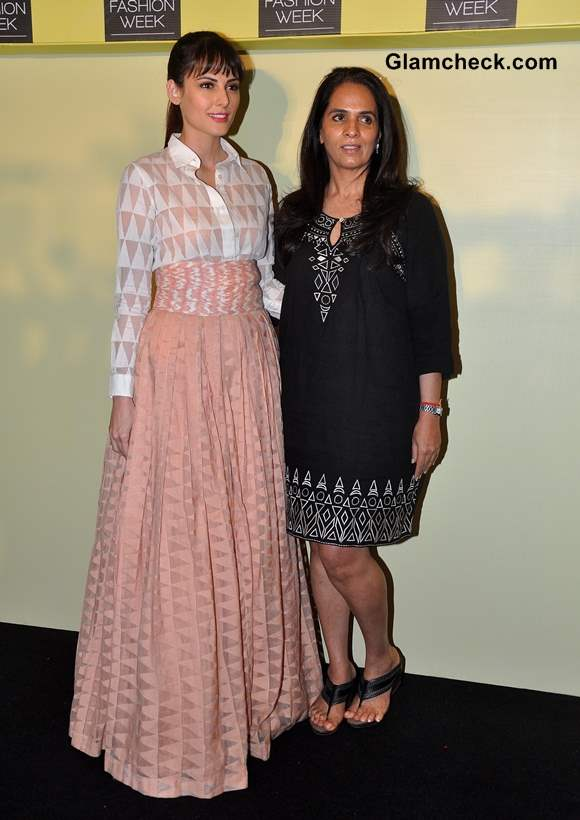 Anita Dongre at Lakme Fashion Week Summer-Resort 2014 Press Meet