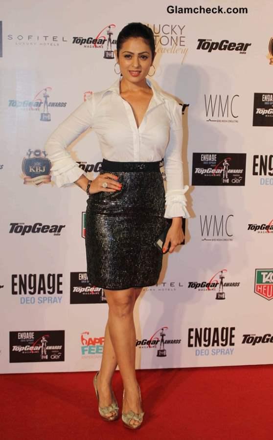 Anjana Sukhani 2014 at the 6th BBC Top Gear Awards