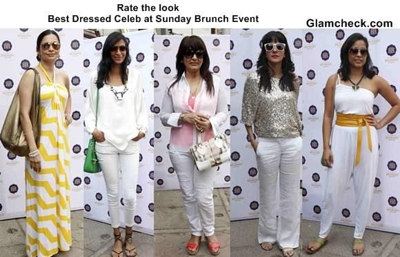 Best Dressed Celeb at Sunday Brunch Event