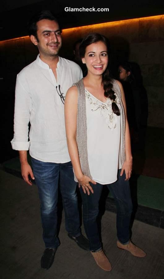 Bollywood filmmaker Sahil Sangha and actor Dia Mirza